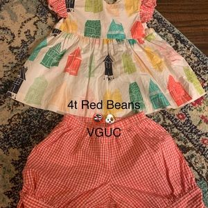 Red beans house 4t outfit